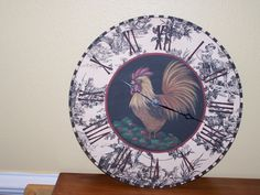 Rooster Clock by Georgannself on Etsy