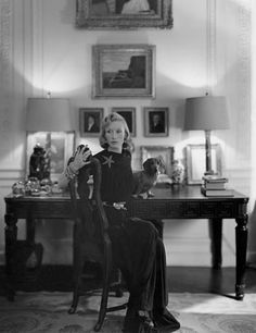 Millicent Rogers at home in New York City in December 1944. Photo: John Rawlings/Condé Nast Archive