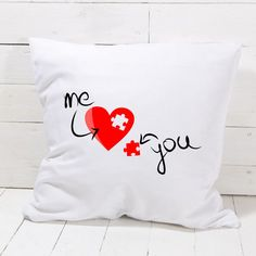Me and You Pillowcase Bedroom Home Decor Great Gift Present for valentines day Cushions, Pillows, Cushion Covers, Pillow Cases, Valentines Day, Great Gifts, Presents, Bedroom, Home Decor