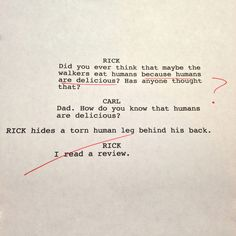An Exclusive Sh*t Rough Draft from #TheWalkingDead