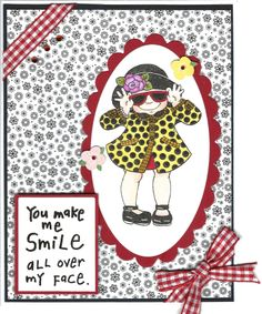 Card made using Janie's Girls stamps from Paper Wishes.