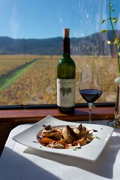 Special menu item from the Grgich Hills Vintner's Lunch