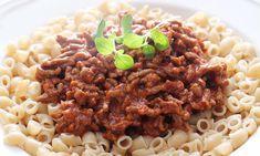 Tre billige retter med makaroni | Pasta | EXTRA Bolognese, Pesto, Risotto, Beans, Mac, Vegetables, Ethnic Recipes, Foods, Drinks