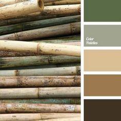 Green and Beige Color Palette - Living Room Color Ideas Brown Color Schemes, Neutral Color Scheme, Colour Pallette, Color Combos, Bathroom Color Schemes Brown, Color Combinations Home, Earthy Color Palette, Green Palette, Living Room Color Schemes