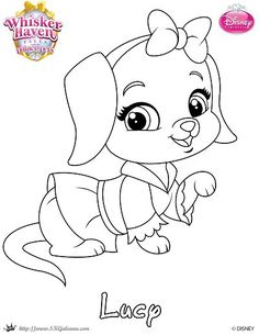 Whisker Haven Lucy Princess coloring page from Disney Palace Pets category. Select from 31927 printable crafts of cartoons, nature, animals, Bible and many more. Frozen Coloring Pages, Disney Princess Coloring Pages, Spring Coloring Pages, Dog Coloring Page, Free Adult Coloring, Animal Coloring Pages, Colouring Pages, Coloring Pages For Kids, Coloring Books