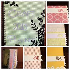 Craft Planner created using the Silhouette Cameo and Zutter Bind-it-all