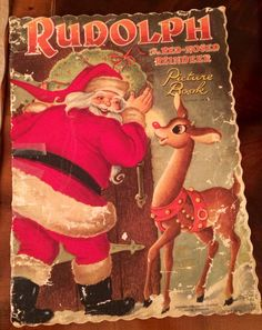 "Vintage ""Rudolph the Red Nosed Reindeer""Children's Christmas book"