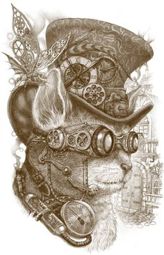 The Observer by Winard #Steampunk #Cat