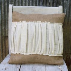 great throw pillow for a living room chair....I love the farmhouse feel.....