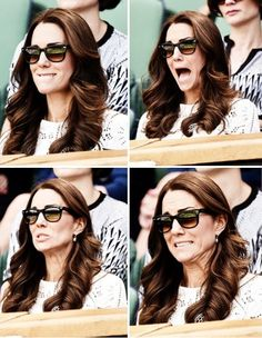 How can you not love her? 7/2/14 Wimbledon *Wow, that tennis match must have been a nail-biter*