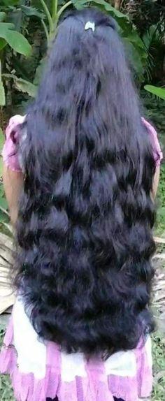 ideas hair wavy long black for 2019 Long Silky Hair, Silky Smooth Hair, Long Black Hair, Super Long Hair, Indian Long Hair Braid, Braids For Long Hair, Wavy Hair, Thick Hair, Beautiful Long Hair