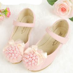 Cute Pink Beaded Mary Jane Flower Pageant Girl Girls Party Shoe Sale SKU-133190