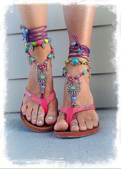 Cute bohemian sandals