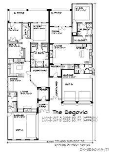 Floor Plan image of The Segovia House Plan