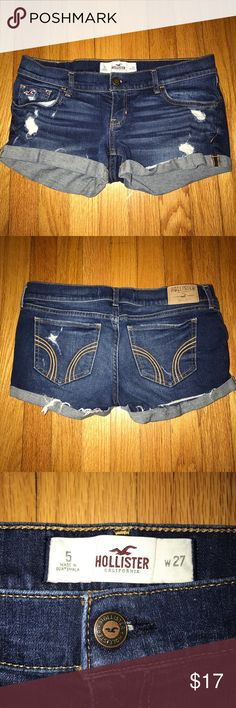 Distressed Shorts Distressed shorts from Hollister. Hit right at the waist line and are still in nearly perfect condition. (Size 5-6) ✨Bundle and save 15%✨ Hollister Shorts Jean Shorts