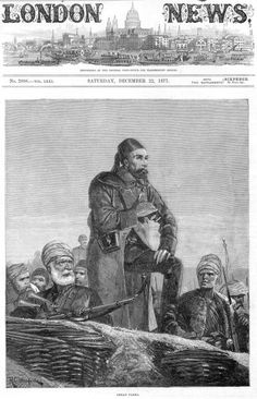 Osman Nuri Pasha General of the Ottoman Turkish army defends the Bulgarian city of Plevna or Pleven against the Russian and Balkan troops during the...