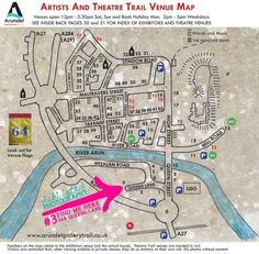 Map by Mark Ford for Arundel Trail 2014