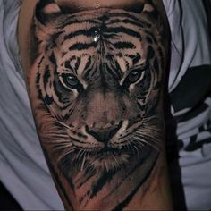 ▷ 1001 ultra coole Tiger Tattoo Ideen als Inspiration tattoos tattoos brazalete tattoos designs tattoos espalda tattoos face tattoos frauen tattoos hombro tattoos leg tattoos meaning tattoos men tattoos sleeve tattoos small tattoos vorlagen tattoos women Realistic Tiger Tattoo, Tiger Head Tattoo, Tiger Tattoo Sleeve, Japanese Tiger Tattoo, Big Cat Tattoo, Head Tattoos, Sleeve Tattoos, Ink Tattoos, Tattoo Drawings
