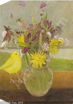 View Blumenstrauss mit Vogel Flower bouquet with bird by Adolf Dietrich on artnet. Browse upcoming and past auction lots by Adolf Dietrich. New Objectivity, Socialist Realism, Magic Realism, Political Art, Sculpture, Oeuvre D'art, Les Oeuvres, Flower Art, Art Drawings