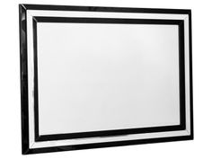 Febland Black Borders Mirror - two stepped borders of opaque black glass £170.00