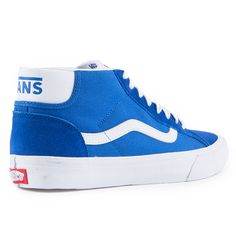 410f85ce285 The Vans Classics Mid Skool Pro Men s Shoes in the  79 Blue White Colorway