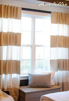 Painted curtains!