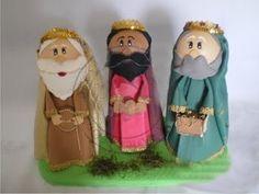 ZONA PURPURA: Tres Reyes Magos Fofuchos del Pesebre Foamy Goma-eva Artfoamicol Patrones Moldes