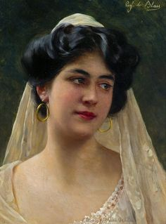 raccolta di ragazza veneziana ...   Eugen von Blaas.