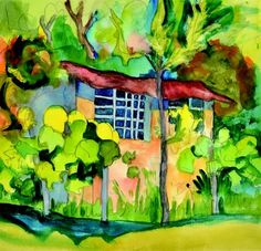 Hermann Hesse [shed in the vineyard], 1927 watercolor and penci
