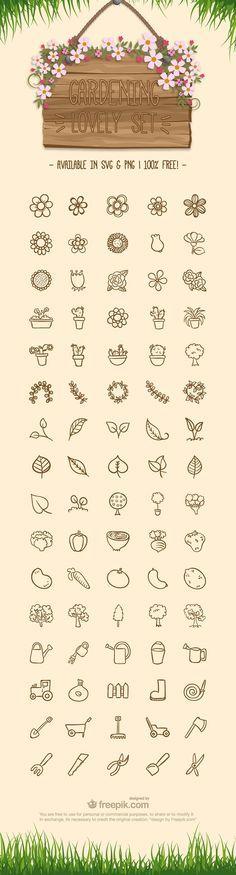 Free Gardening Icon Set, #Free, #Gardening, #Graphic #Design, #Icon, #PNG, #Resource, #SVG, #Vector