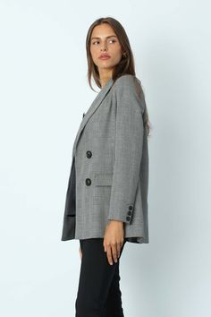 Checked Blazer, Certificate, Poland, Environment, Buttons, Wool, Studio, Sewing, Blouse