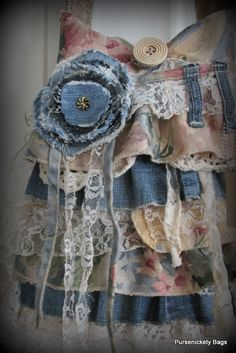 Large Romantic Handbag Gypsy Victorian Shabby by PursenicketyBags
