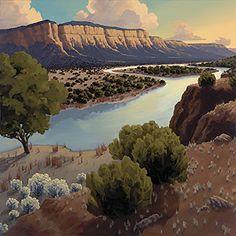 New Mexico Artist--Doug West Landscape Art, Landscape Paintings, Desert Landscape, Writing Photos, New Zealand Landscape, Southwestern Art, West Art, Great Paintings, Tile Art