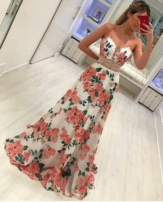 Straps floral long prom dress my style floral prom dresses, formal dresses, Floral Prom Dresses, Dresses Elegant, V Neck Prom Dresses, Flower Dresses, Trendy Dresses, Day Dresses, Homecoming Dresses, Cute Dresses, Strapless Dress Formal