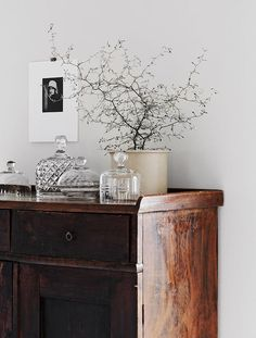 Swedish antique dresser in a lovely pared-back Skåne farmhouseElle Decor. Styling Pella Hedeby Photography Kristofer Johnsson