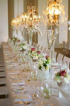 www.weddingconcepts.co.za  Chandeliers create that extra glamour! Photo by: Jean-Pierre Uys