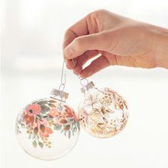 10 Gorgeous Homemade Ornaments You Can Make with Simple Glass Ornaments, DIY and Crafts, DIY Temporary Tattoo Ornaments Diy Christmas Baubles, Noel Christmas, Christmas Projects, Holiday Crafts, Christmas Decorations, Christmas Ideas, Homemade Christmas, Holiday Ideas, Christmas Design