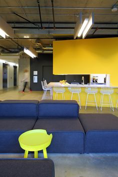 "Clive Wilkinson Architects brings ""quirky rawness"" to Funny or Die offices."