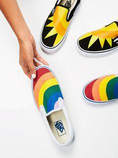 5d49ea2d5331 Vans Rainbow Rainbow Classic Slip On Sneaker at Free People Clothing  Boutique Rainbow Vans