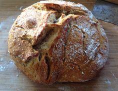 No Knead Sourdough Bread ~ You won't believe how easy it is!
