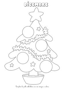 La maestra Linda : I mesi dell'anno Christmas Tree Crafts, Christmas Time, Christmas Decorations, Crafts To Make And Sell, Crafts For Kids, Arts And Crafts, Simple Car Drawing, Coloring Books, Coloring Pages