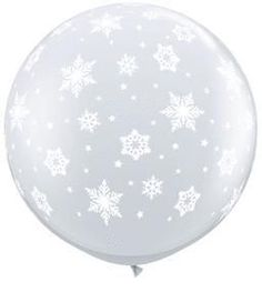 3' Snowflakes-A-Round Latex Balloon - Clear (2ct)