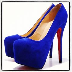 1489327dd9e Blue Suede Louboutins. Probably my all time favs. Blue Suede
