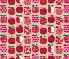Applicious fabric by designs_by_lisa_k on Spoonflower - custom fabric