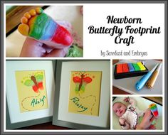 How To Make Butterfly Footprint Artwork