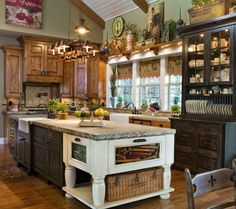 i love the cabinet colors! not so much the decor but definitely the cabinets.