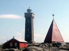 Vinga Lighthouse in Goteborg, Sweden
