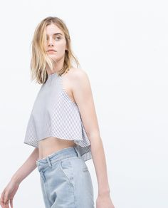 FULL TOP WITH HALTER NECK - Tops - Woman - COLLECTION AW15 | ZARA India