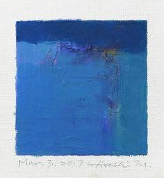 2017 9 cm x 9 cm (app. x oil on canvas © 2017 Hiroshi Matsumoto Abstract Words, Oil Painting Abstract, Oil Paintings, Blue Art, Abstract Expressionism, Oil On Canvas, Contemporary Art, Art Photography, Art Prints