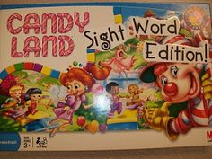 Two birds, one stone...sight word practice and repurposing of our extra candy land game!!
